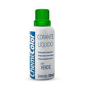 Corante Liquido Chemicolor 50ml Verde