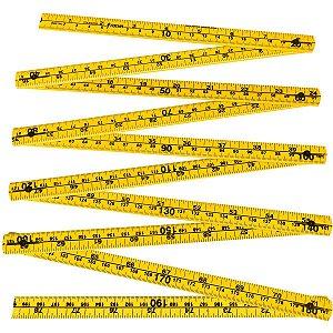Metro Duplo Tocha Amarelo de 2 Metros Embalagem com 12 Unidades