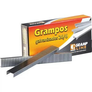 Grampo Galvanizados Gramp Line para Grampeador 26/6 Caixa com 5000 Unidades