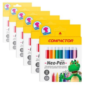 Caneta Hidrocor Compactor Neo Pen Mirim 5 Caixas com 12 Cores Cada
