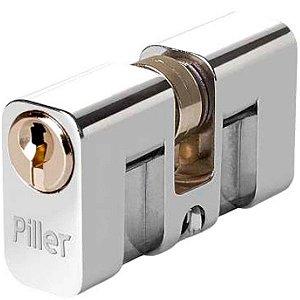 Cilindro para Fechadura Piller Cromado 60mm Soprano
