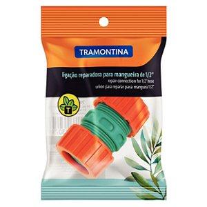 """Ligação Reparadora Tramontina em Plástico para Mangueira 1/2"""" 78510/000 com 12 Unidades"""