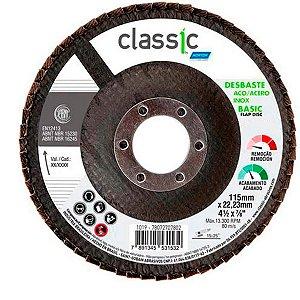 Disco Flap Norton Classic para Aço Inox 115-40 115x22,23mm com 10 Unidades