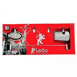 Kit para Banheiro Leão em Alumínio Junior com 5 Peças
