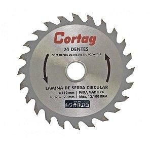 Serra Dentada com Widea Cortag 110mm com 24 Dentes