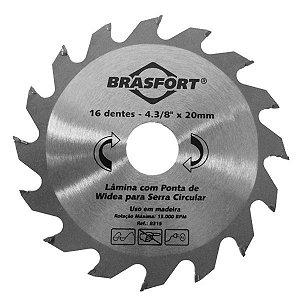 """Serra Dentada com Widea Brasfort 4.3/8"""" x 20mm com 16 Dentes"""