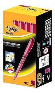 Marca Texto BIC Brite Liner Rosa 1.5 - 3.5 mm Caixa com 12