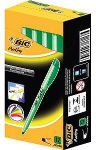 Marca Texto BIC Brite Liner Verde 1.5 - 3.5 mm Caixa com 12
