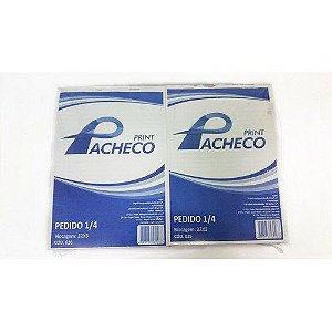 Talão de Pedido Pacheco Pequeno Impresso 1/8 40x2 - 10 Blocos com 40 Unidades