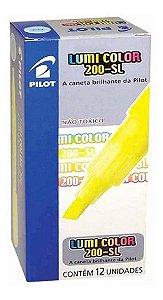 Marca Texto Pilot Lumi Color 200-SL Amarelo com 12 Unidades