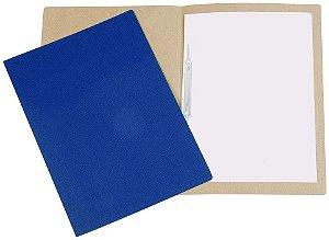 Pasta Polycart Azul Vincada com grampo 1026/1005 - com 20 Unidades