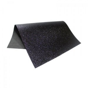 Folha Eva DubFlex Preto Com Glitter 40x60cm 5 folhas