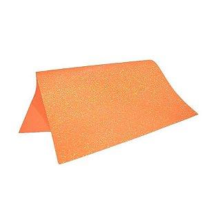Folha Eva DubFlex Laranja Com Glitter 40x60cm 5 folhas