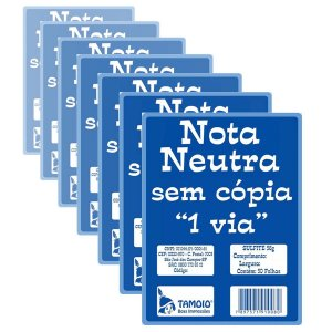 Bloco Nota Neutra Tamoio 1/32 - 1004 50 x 1 - 20 Blocos com 50 Folhas