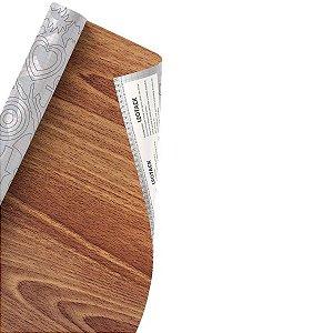 Plástico Adesivo Leoarte Madeira Vinhatico 45cm x 10m 80 Micras