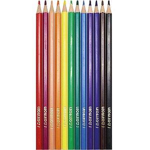Lápis de Cor Leo&Leo Redondo 12 Cores Caixa com 06 Pacotes