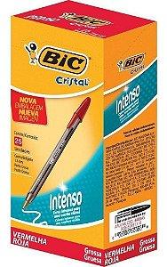 Caneta Bic Cristal Bold Intenso 1.6mm Vermelha Caixa com 25 unidades