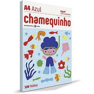 Papel Sulfite Chamequinho A4 100 Folhas Azul