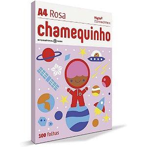 Papel Sulfite Chamequinho A4 100 Folhas Rosa