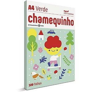Papel Sulfite Chamequinho A4 100 Folhas Verde