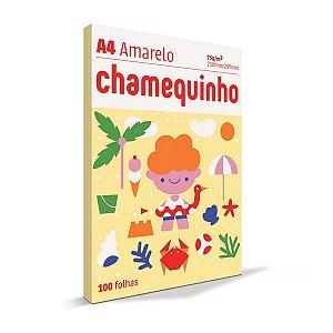 Papel Sulfite Chamequinho A4 100 Folhas Amarelo