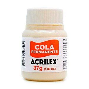 Cola Acrilex Permanente 37g Caixa com 12 Unidades