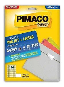 Etiqueta Pimaco A4 A4249 com 25 Folhas