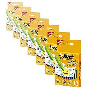 Giz de Cera Bic Evolution com 12 Cores - 12 Caixas