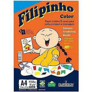 Papel Sulfite Filipinho Criativo A4 8 Cores 45 folhas 85g