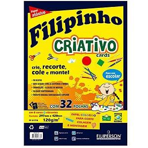 Papel Sulfite Filipinho Criativo A3 8 Cores 32 folhas 120g