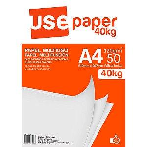Papel Sulfite Use Paper A4 Branco 40kg 120g 50 Folhas