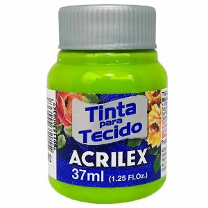 Tinta para Tecido Acrilex 37ml Verde Maçã 802