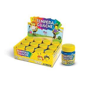 Tinta Guache Acrilex 15ml Amarelo Pele 538 Caixa com 12 Unidades