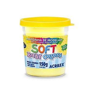Massa de Modelar Acrilex Soft Baby Colors 150g Amarelo Bebê 808