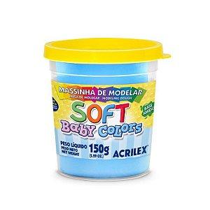 Massa de Modelar Acrilex Soft Baby Colors 150g Azul Bebê 811