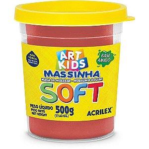 Massa de Modelar Soft Acrilex 500g vermelho 103