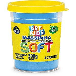 Massa de Modelar Soft Acrilex 500g Azul 109