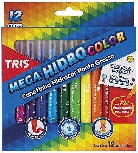 Caneta Hidrocor Tris Summit Color Super com 12 Cores
