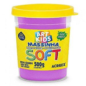 Massa de Modelar Soft Acrilex 500g Violeta 516
