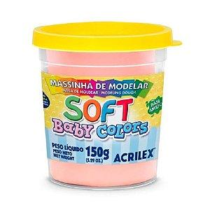 Massa de Modelar Soft Acrilex Baby Colors 150g Salmão Bebê 812