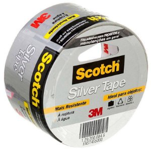 Fita Silver Tape 3M Multiuso 45mm x 25m Cinza