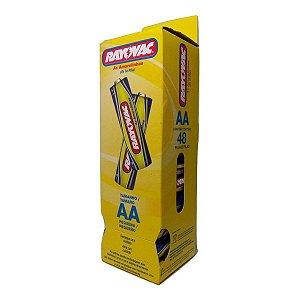 Pilhas Rayovac Pequena AA Embalagem com 48 Unidades
