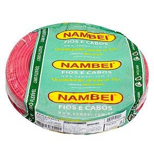 Fio Flexível Nambeiflex Nambei 4,0mm 450/750V Vermelho Rolo 100 Metros
