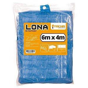 Lona de Polietileno Tocha 6x4m Azul