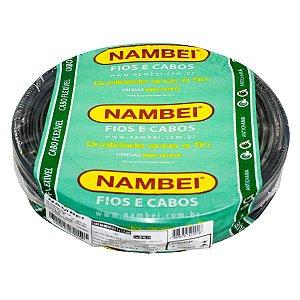 Fio Flexível Nambeiflex Nambei 16mm 450/750V Preto Rolo 100 Metros