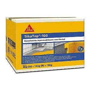 Impermeabilizante Sika Top 100 Cinza Caixa com 18kg