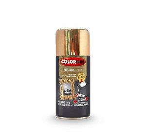 Tinta Spray Colorgin 057 Metallik Interior Dourado