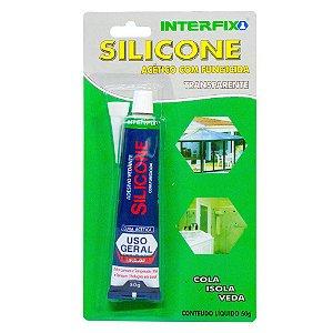 Silicone Acético Interfix com Fungicida 50g Embalagem com 12 unidades