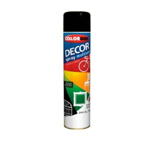 Tinta Spray Colorgin 871 Decor Preto Fosco