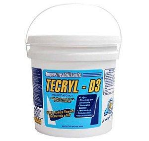 Manta Acrílica Impermeabilizante Tecryl D3 Galão 04Kg Cinza